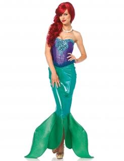 Zauberhafte Meerjungfrau Deluxe Damenkostüm Märchen lila-grün