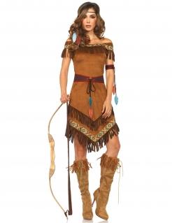 Indianerin Western Damenkostüm braun