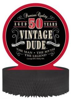 Vintage Tischdeko 50. Geburtstag Partydeko