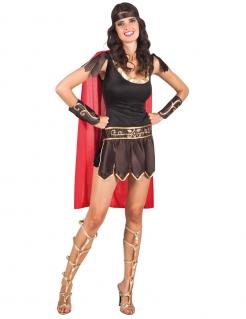 Römisches Gladiatoren-Damenkostüm Antike schwarz-gold