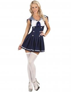 Matrosen-Kostüm Seefahrer blau-weiß
