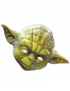 Star Wars Pappmaske Partymaske Yoda Lizenzware grün-braun