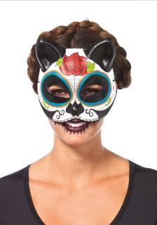 Dia de los Muertos Katzen-Maske