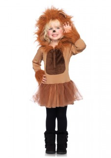 Süßer Löwe Kinderkostüm braun