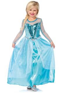 Eiskönigin - Mädchen-Kostüm - hellblau
