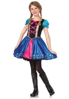 Prinzessinnen Mädchenkostüm für Mädchen schwarz-blau-pink