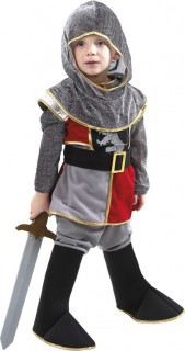 Jungenkostüm furchtloser Ritter in Grau