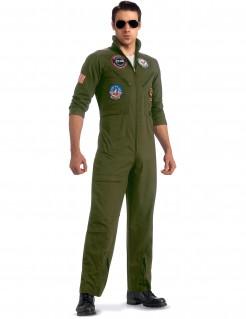 Piloten-Kostüm mit Sonnenbrille aus Top Gun - khakifarben