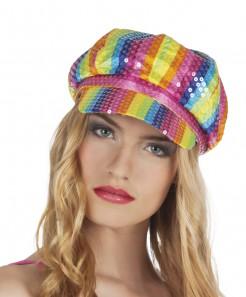 Pailletten-Kappe Erwachsene mehrfarbig
