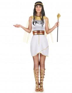 Ägypter Damenkostüm weiß-gold