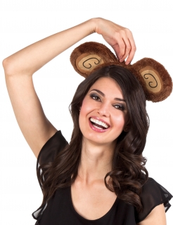 Affen-Haarreif Kostümaccessoire braun-beige