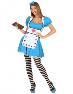 Träumerin-Kostüm Märchenland für Damen - blau-weiß