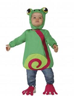 Süsser Frosch Babykostüm grün-rosa