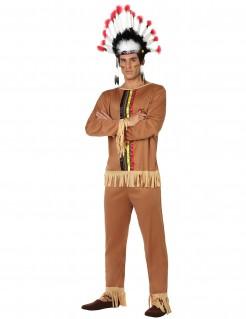 Markantes Indianerkostüm für Herren braun