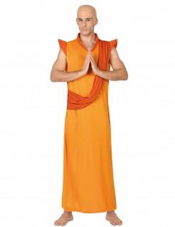 Buddhisten-Kostüm für Männer safrangelb