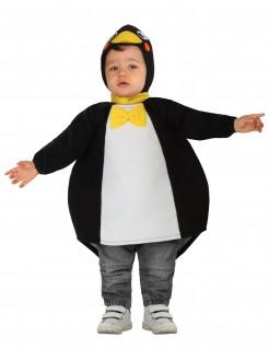 Niedlicher Pinguin Babykostüm schwarz-weiss-gelb