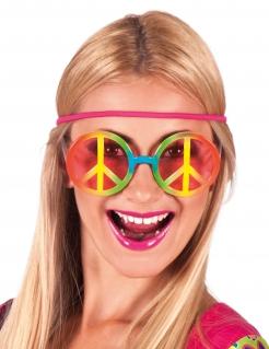 Hippiebrille Regenbogen