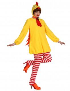 Huhn-Kostüm Tierverkleidung gelb-rot