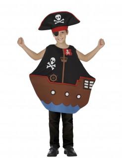 Piratenschiff Kinderkostüm Schiff schwarz-braun