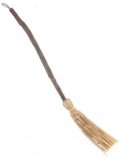 Hexenbesen Hexenkostüm-Zubehör braun-beige 90cm