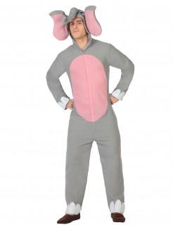 Lustiger Elefant Kostüm Jumpsuit grau