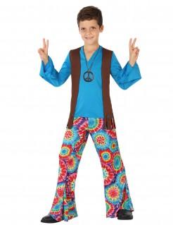 Hippie-Kostüm Jungen blau