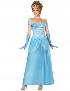 Prinzessin-Damenkostüm Märchen blau