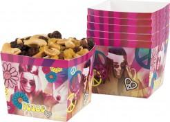 70er Pappschalen Party-Deko Flower Power 6 Stück bunt 400ml