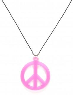 Hippie-Kette Friedenszeichen rosa