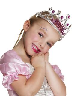 Geburtstagsdiadem in Silber für Mädchen