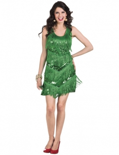 Charleston-Damenkleid grün