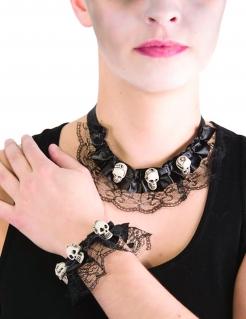 Halloween-Halskette und Spitzen-Armband