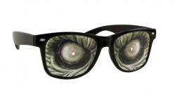 Monsterbrille Horror-Brille mit Augen schwarz-grün