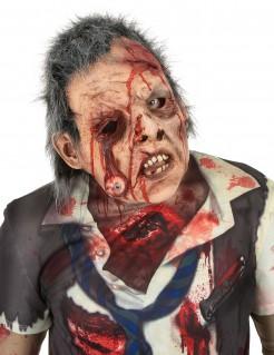 Hochwertige Zombie-Latexmaske mit Haaren