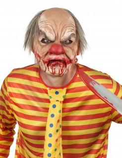 Blutige Clownsmaske mit Haaren