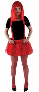 Einfarbiges Tütü Kostüm-Unterrock rot