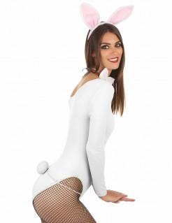 Bunny Hase Damenkostüm-Set 3-teilig rosa-weiss