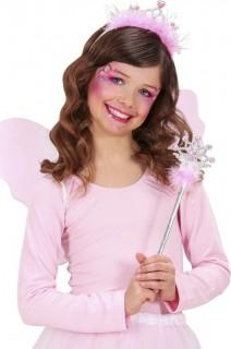 Prinzessinnen-Accessoire-Set Stab und Diadem rosa-silber
