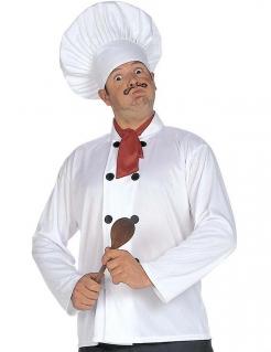Chef Koch Kostüm-Set weiss-schwarz-rot