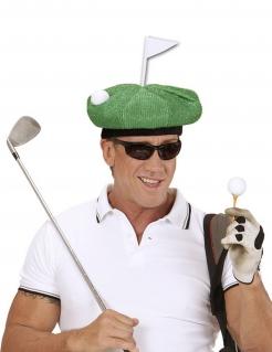 Witzige Golfermütze Golfball-Mütze grün-weiss