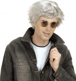 Alter Mann Perücke grau