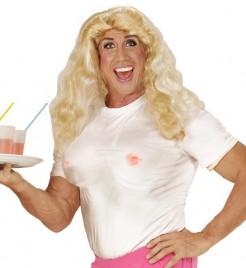 Fun Shirt mit künstlichen Brüsten hautfarben