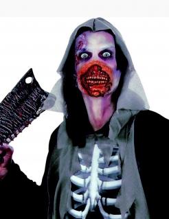 Zombie Mund Halloween Latexapplikation mit Gummiband haut-rot
