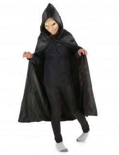Kinderumhang mit Kapuze Kostümaccessoire schwarz 89cm