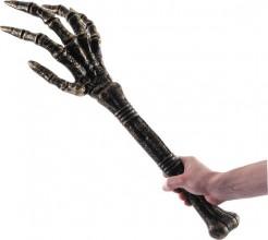 Skeletthand mit Unterarm Halloween-Deko schwarz-gold 66cm