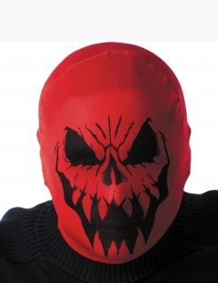 Horror-Strumpfmaske Horrorgesicht rot-schwarz