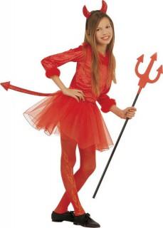 Teufel-Set Mädchen-Teufelkostüm rot