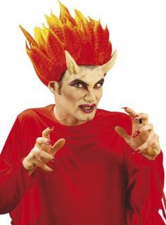 Teufelshörner Halloween Accessoire hautfarben 9cm