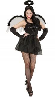 Gefallener Engel Damenkostüm schwarz