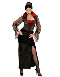 Halloween Vampir-Kostüm für Frauen Damen Kostüm schwarz-rot